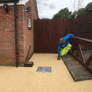 Laying a resin bound driveway