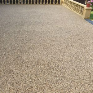 A resin bound driveway