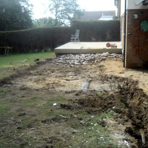 Natural Stone Patio Before