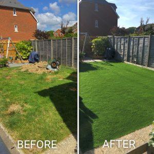 Artificial Grass Before After