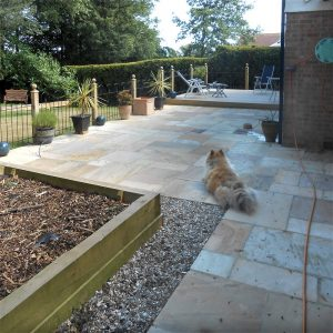 Natural Stone Patio After