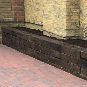 Wooden Sleeper Garden Wall